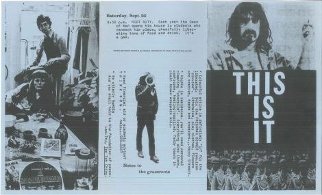 1973 Orientation pamphlet Side one