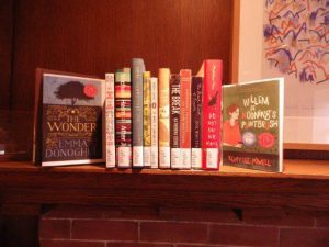 Canada Literary award winners 2016 sitting on fireplace