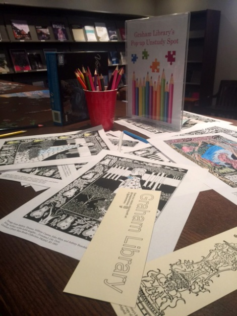 Colouring sheets based on rare and special collections