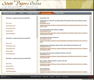 State Papers Online Research Tools