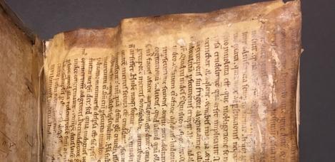Cropped image of manuscript waste
