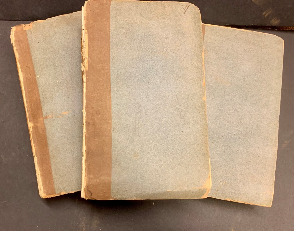 3 volume set of Experiments and observations showing paper wrappers